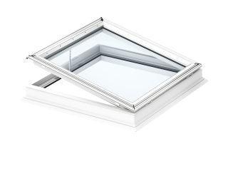 VELUX - CVP 090090 0673QV - Elec. flat roof window, laminated inner pane, PVC construction, 90x90