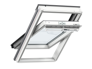 VELUX - GGL CK04 2070 - White-Painted Pine, Centre-Pivot, lam glazing/toughened outer 55x98