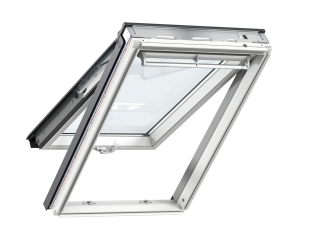 VELUX - GPL MK06 2060 - White-Painted Pine top-hung RW, easy clean+ENR glazing, 78x118
