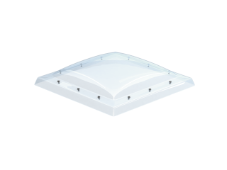 VELUX - ISD 120120 0010 - Clear PC dome top for FRW, scratch resistant, 0-15 degrees,120x120
