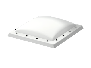 VELUX - ISD 120120 0110 - Opaque PC dome top for FRW, scratch resistant, 0-15 degrees,120x120