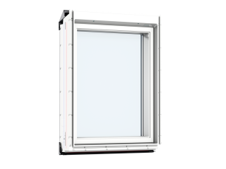 VELUX - VIU MK35 0060 - Maintenance free white PU, fixed vertical, noise reduction, 78x95