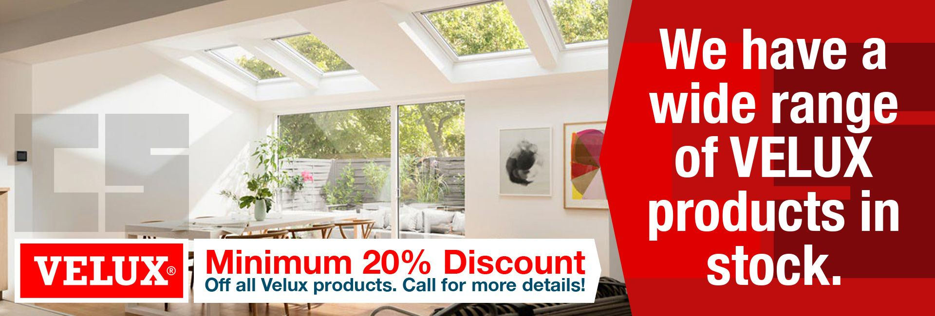 We have a wide range of Velux products in stock at Civil Solutions Newton Abbot, Devon.